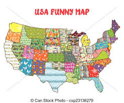 highway map of the united states road map clipart