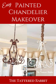 Chandelier Makeover Painted Chandelier Makeover Using General Finishes Milk Paint At