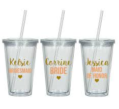 bridesmaid cups 9 bridesmaid tumblers bridesmaid cups personalized