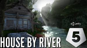 free assets only house by river speed level design unity 5