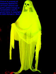 Halloween Flying Ghost Projector yellow skeleton ghost prop decoration halloween haunted house