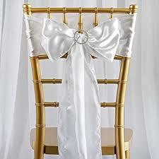 bows for wedding chairs white satin wedding chair sash bows set of 10 home