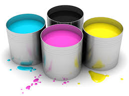 cmyk cans with color paint hd free foto