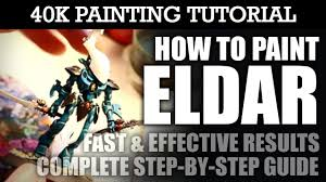 how to paint eldar painting tutorial you can use this technique