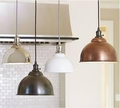 kitchen lighting copper pendant lights bowl nickel rustic