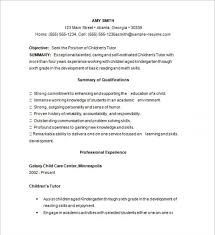 Nursing Tutor Resume Tutor Skills Resume Cbshow Co