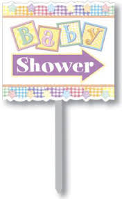 baby shower sign baby shower directional sign baby shower yard signs banners