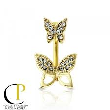 belly button rings butterfly crave jewelry