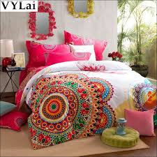bedroom fabulous colorful sheets sets retro funky bedding indie