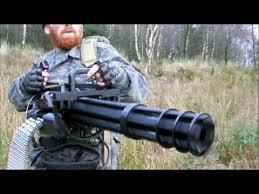 Airsoft Backyard War M134 Mini Gun