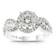 sterling silver engagement rings walmart believe by brilliance simulated sterling silver