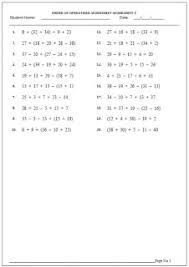 5th grade order of operations worksheets free eduworksheets