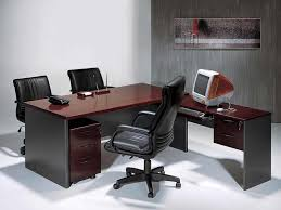 White L Shaped Office Desk by Small Office Interior Cool Green Painted Office Wall With L