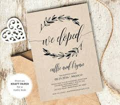 elopement announcements luxury wedding reception invitation after eloping for free