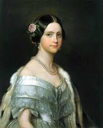 robe de mariã e satin half length painted portrait of a wearing a white