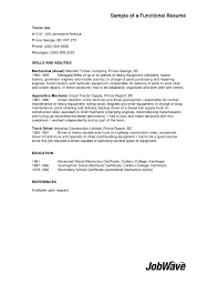 Functional Resume Template Sales Truck Loader Resume Resume For Your Job Application