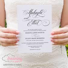 classic wedding invitations script mozart classic wedding invitation set wedding invitations