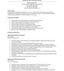 Us It Recruiter Resume Sample Consulting Resume Examples Career Resume Consulting Resume