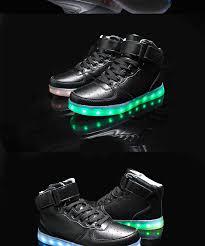 rainbow light up shoes 2018 boys girls flash jogging shoes size 25 37 7 colors led light