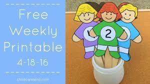 weekly printable for preschool and kindergarten 4 18 16 youtube