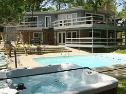 kentucky lake house rental rear view of house decks pool and jpg