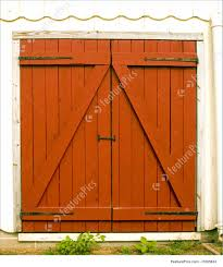 Red Barn Door by Architectural Details Barn Doors Stock Picture I1085833 At