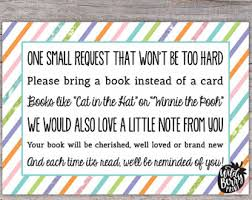 Books Instead Of Cards For Baby Shower Poem Book Request Poem