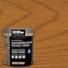 behr premium 1 gal natural clear transparent waterproofing wood