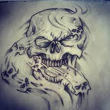 skull in smoke designs http santattoos com skull and