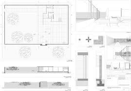 Crown Hall Floor Plan Planos De La Vivienda Con Tres Patios Interiores 1934 Mies Van