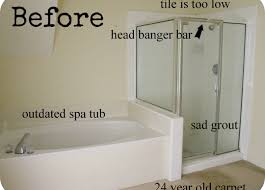 shower budget bathroom makeovers beautiful change tub to shower