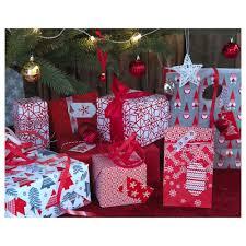 christmas gift wrap rolls vinter 2017 gift wrap roll christmas tree pattern 4x0 7 m ikea