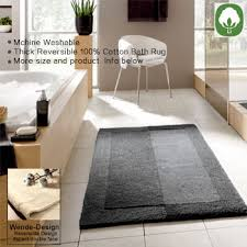 Thick Bathroom Rugs Thick Plush Reversible Cotton Bath Rugs In Large Sizes