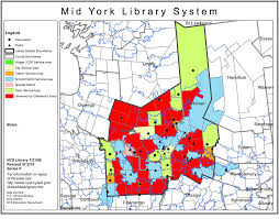 New York City Area Map by Mid York Library System Public Library Service Area Maps Library