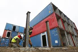 apartment building made of shipping containers a first for