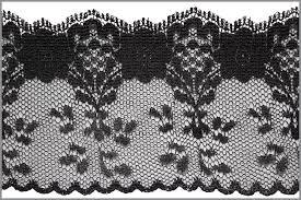 black lace trim 1y black flower design lace trim 2 1 2 w box l7