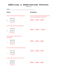 teaching seriously assessing addition u0026 subtracting for