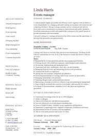 hospitality resume template pic events manager cv template 1 hospitality cv purchase resume