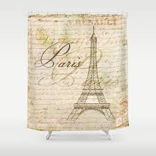 Vintage Style Shower Curtain Vintage Style Paris Shower Curtain Artsy Pumpkin