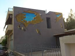 brick wall mural by depyy
