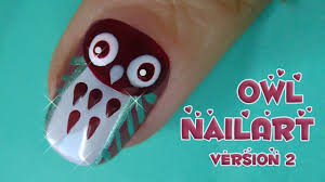 easy owl nail art tutorial second version youtube