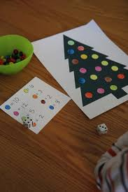 toddler approved roll a christmas tree color game