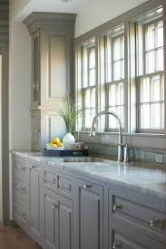 Kitchen Cabinets With Granite Countertops Blue Kitchen Cabinets With Fantasy Brown Granite Countertops