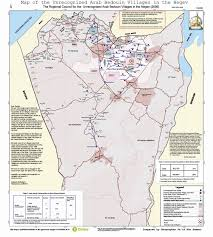 Isreal Map Bedouin Jewish Justice In Israel Map Of The Unrecognized Negev