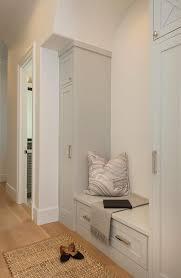 light gray shaker mudroom cabinets transitional laundry room