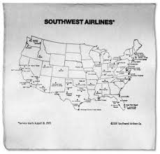 swa route map digital roam southwest airlines keeps up the napkin spirit