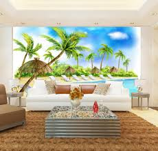 online get cheap beach wallpaper murals aliexpress com alibaba modern beach 3d wallpaper murals 3d living room wallpaper photo wall murals tv backdrop murals