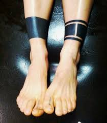 black band ankle band black tattoos line tattoos