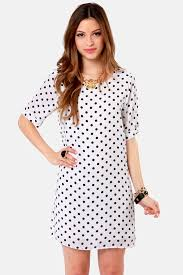 black and white dresses polka dot dress black dress white dress 45 00