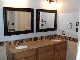 Decorative Mirrors For Bathroom Vanity Picturesque Black Painted Wooden Vanity Mirror With